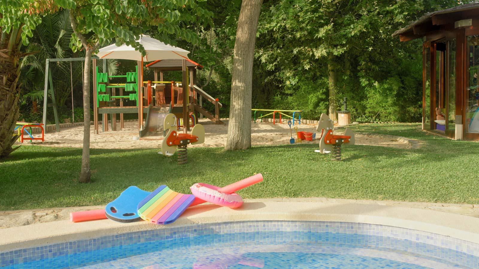 Kids' Club playground and pool at Sheraton Mallorca